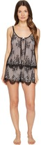 Oscar de la Renta Romantic All Over Lace Tap Set Women's Pajama Sets