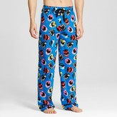 Bioworld Men's Power Rangers Head All Over Print Pant - Blue