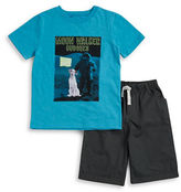 Nannette Boys 2-7 Little Boys Graphic Tee and Shorts Set