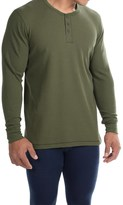 Jockey Stretch Waffle Henley Shirt - Long Sleeve (For Men)