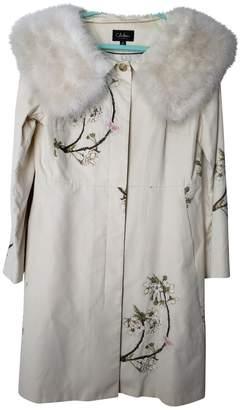 Cole Haan Ecru Cotton Coat for Women