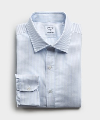 Hamilton Made in the USA + Todd Snyder Candy Stripe Shirt in Blue