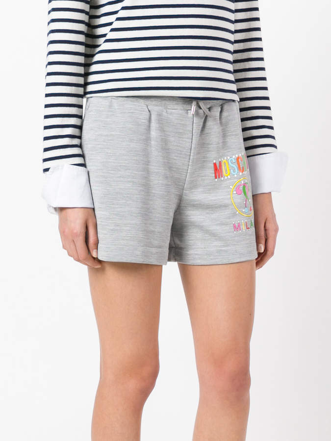 Moschino logo print shorts