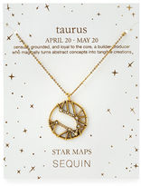 Sequin Astrological Sign Pendant Necklace