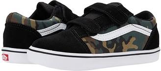 Vans Kids ComfyCush Old Skool V (Infant/Toddler) ((Woodland Camo) Black/True White) Boys Shoes