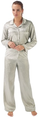 Indigo Sky Ladies Satin Long Sleeves Gold Fusion Pyjamas Size 10 12 14 16 18 20 22 (18)