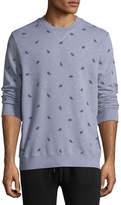 Derek Rose Cornwall 3 Leaf-Print Cotton Sweatshirt