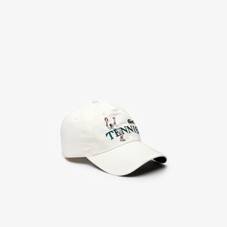 Lacoste Unisex LIVE Embroidered Cotton Cap