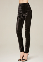 Bebe Crushed Velvet Leggings