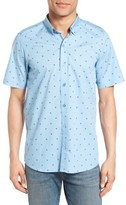 Travis Mathew Men's Arick Geo Print Short Sleeve Sport Shirt
