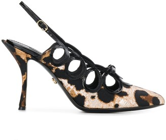 Dolce & Gabbana Leopard Print Slingback Pumps