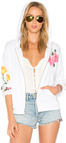 Wildfox Couture Meadow Flowers Zip Up in White
