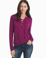 White House Black Market Lace-Up Sweatshirt