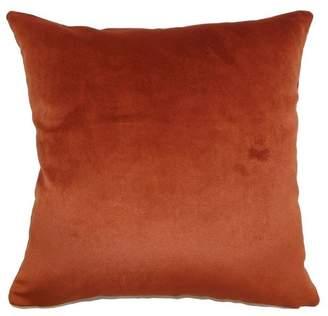"The Pillow Collection Juno Plain Pillow Rust 20""x20"""