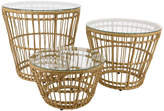 A By Amara A by AMARA - Corsica Wicker Side Table - Set of 3