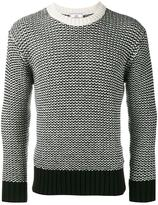 Ami Alexandre Mattiussi two-tone stitch crew neck sweater - men - Polyamide/Wool - S