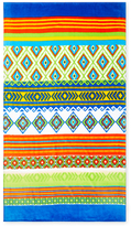 Colorful Elements Terry Velour Beach Towel