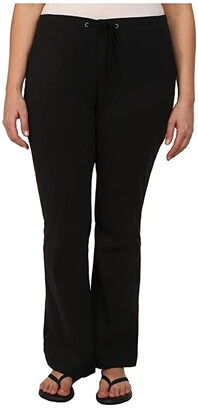 Columbia Plus Size Anytime Outdoortm Boot Cut Pant (Black) Women's Casual Pants
