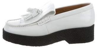 Celine Leather Platform Loafers