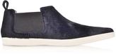 Marc Jacobs Luxor Navy Blue Haircalf Sneaker