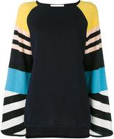 Antonia Zander cashmere stripe panel top - women - Cashmere - S
