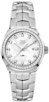 Tag Heuer Link 0.792 TCW Diamonds, Mother-of-Pearl and Stainless Steel Bracelet Watch