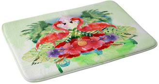 "Deny Designs Kangarui Exotic Flamingo Memory Foam Bath Mat, 24""x36"""
