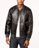 Alfani Men's Perforated Genuine Leather Jacket, Created for Macy's
