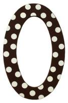 My Baby Sam Polka Dot Letter o, Brown/White by