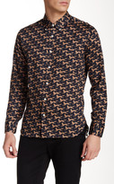 Billy Reid Rosedale Printed Long Sleeve Slim Fit Shirt
