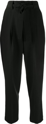 Pt01 High-Waisted Tapered Trousers