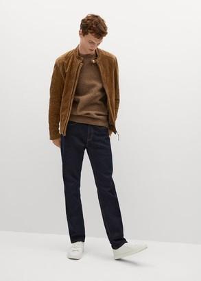 MANGO Elbow-patch suede jacket