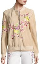 Etro Floral Suede Bomber Jacket