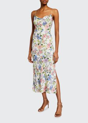 Alice + Olivia Harmony Drapey Slip Maxi Dress w/ Slit