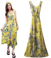 Kinghard® Kinghard Summer Women Boho Long Dress Evening Party Beach Dresses Chiffon Dress