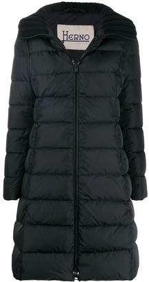 Herno Ribbed Collar Puffer Jacket