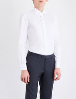 Corneliani Solid regular-fit cotton-twill shirt