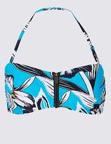 M&S Collection Floral Print Bandeau Bikini Top