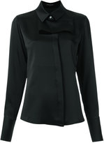 Gloria Coelho - cut out shirt - women - Polyester/Acetate - M