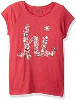 Gymboree Little Girls' Short Sleeve Raglan High Low Graphic Tee