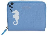 Smythson Women's Seahorse Leather Coin Pouch - Blue