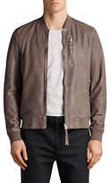 AllSaints Kino Leather Bomber Jacket, Gravel