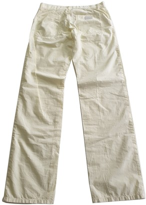 Gucci Yellow Cotton Trousers