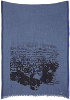 Junya Watanabe Navy Cashmere and Cotton Scarf