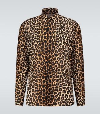 Saint Laurent Leopard printed shirt