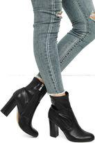 Report Liria Black High Heel Mid-Calf Boots