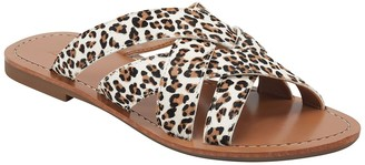 Marc Fisher Roonyly Leopard Genuine Cow Hair Sandal