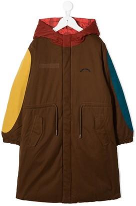 Bobo Choses Colour-Block Hooded Coat