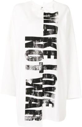 Yohji Yamamoto Oversized Make Love T-shirt