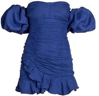 Isabel Marant Jasmine Off-The-Shoulder Puff-Sleeve Dress